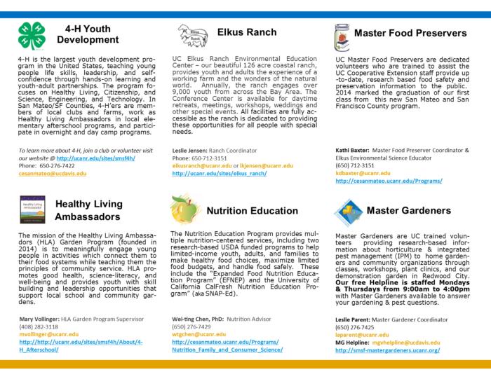 UCCE tri-fold brochure P2